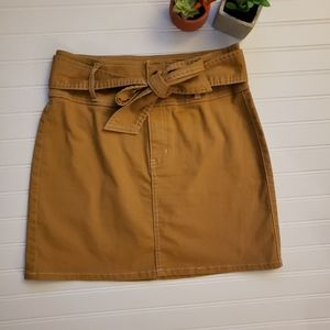 Rewash Tan Mini Skirt Size 7